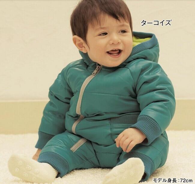 new 2015 baby rompers baby down coat set new born baby winter thicken romper cotton / fleece romper one piece jumpsuits