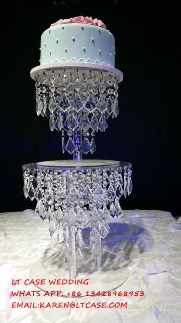 Acrylic crystal wedding cake stand wedding decoration wedding acrylic crystal wedding cake stand wedding decoration wedding props of wedding table centerpiece junglespirit Image collections