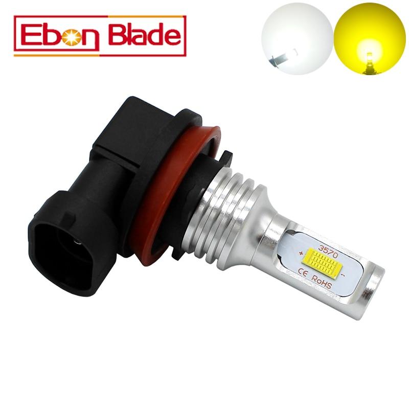 Ebon Blade 1Pcs 9005 9006 H8 H11 H16JP H7 Canbus No Error CSP 72W 1000LM LED Light Bulb HB3 HB4 H16 Fog Light 12V 24V DC