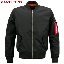 MANTLCONX Plus Size 7XL 8XL Spring Men Bomber Jacket Military Flight Pilot Jackets Male Coat Air Force Brand