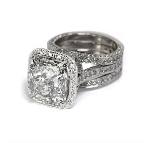 Livraison directe tout nouveau bijoux de luxe promesse anneau 925 en argent Sterling coussin forme AAA CZ chanceux mariage femme bague - 4