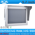 "Cheap 4G RAM 32G SSD Intel Atom D2550 9.7"" All In One Tablet PC Touch Screen"