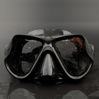 New Professional Scuba Diving Mask Snorkeling Silicone Black Diving Mask Spearfishing Underwater H Mask Free Shipping