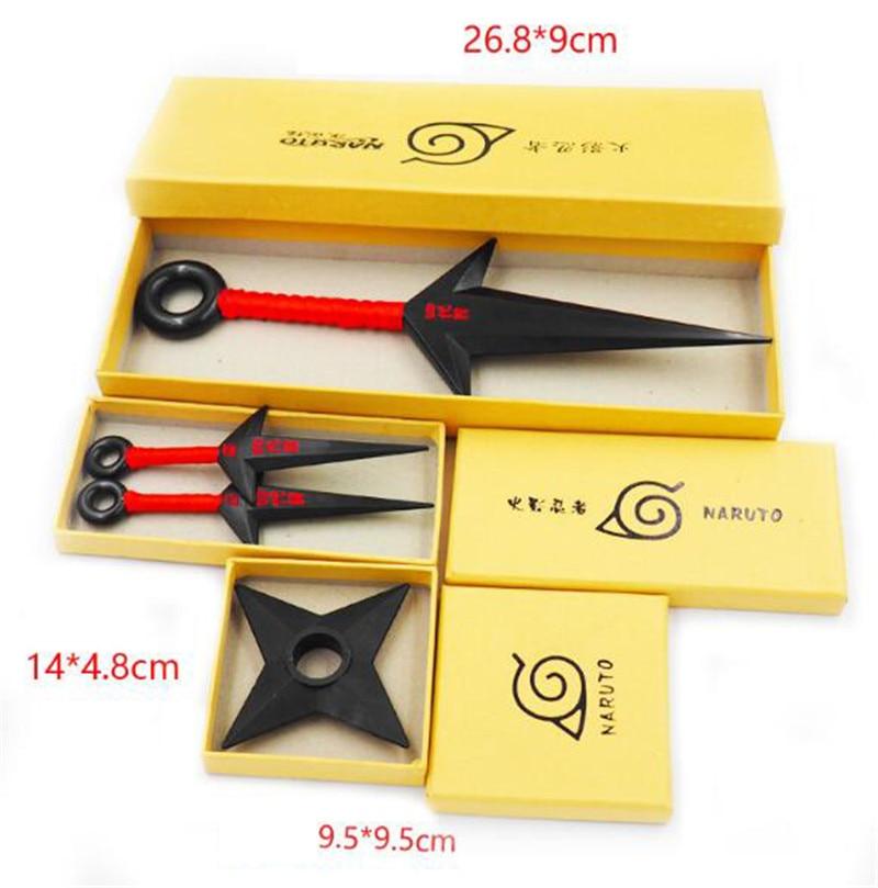 Naruto Bandeau avec Accessoires de Ninja Kunai en Plastique Jouets Ninja Kakashi Accessoires de Cosplay