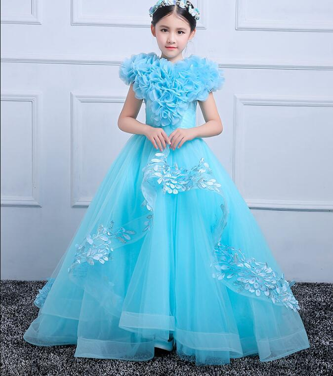 Flower Girls Dresses for Wedding Kids Pageant Dress First Holy Communion Dresses for Little Baby Party Christmas Dress 2018 new summer long elegant white flower girls dress kids baby teenagers first communion pageant girl wedding party dresses