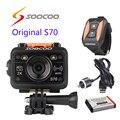 Frete grátis!! Original SOOCOO S70 Wi-fi 2 K Esporte Action Camera com Controle Remoto Relógio À Prova D' Água + USB cabo + extra 1 pcs bateria