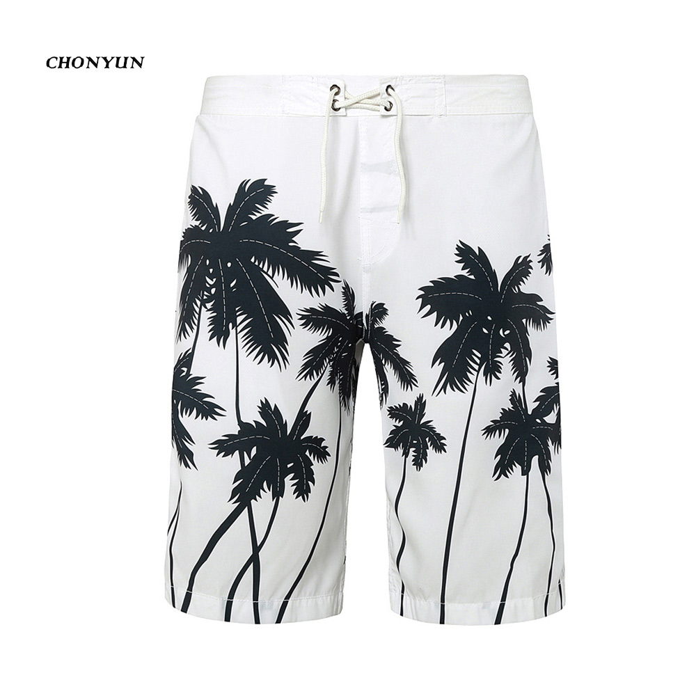 New long mens beach   shorts   thin quick drying men   board     shorts   summer bermuda surfriding masculina men swimwear trunks plus size