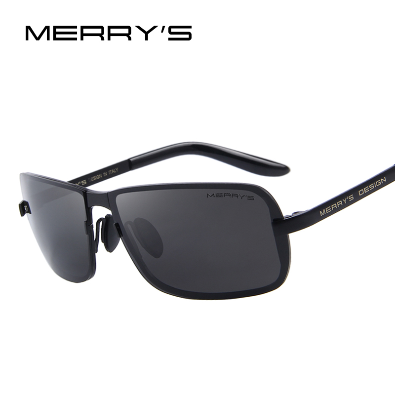MERRY'S Classic Brand CR-39 Sonnenbrille Herren HD Polarisierte Sonnenbrille für Herren Fashion Luxury Design Shades UV400 S'8722