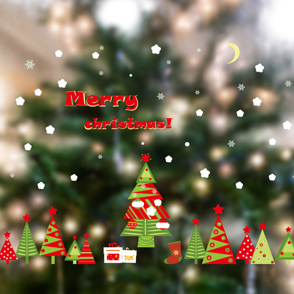Christmas Tree Store Furniture: Christmas Tree Wall Sticker Removable Waterproof Furniture