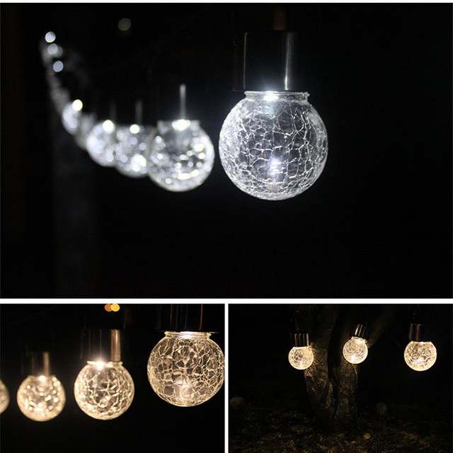 garden decoration outdoor lighting solar bulb crackle