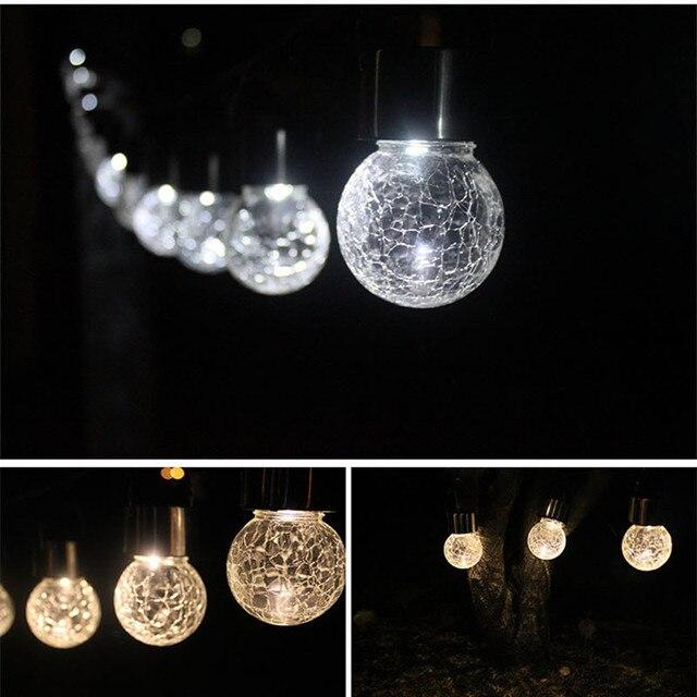Garten Dekoration Aussen Beleuchtung Solar Lampe Knistern Glas Ball