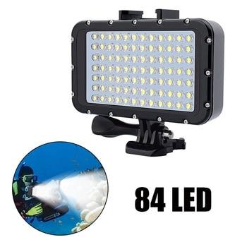 50M Waterproof Diving LED Night Light 84 LED Video Light Photographic Lighting Diving Lamp For Gopro Hero 3/3+/4/4S/5/5S/6