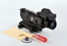 New Arrival Tactical 4x32 ACOG Style Scope With Mini Red Dot For font b Hunting b