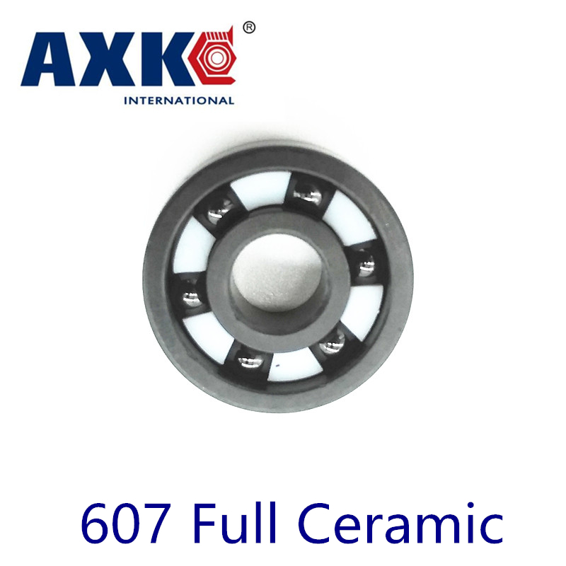 2017 New Hot Sale Axk 607 Full Ceramic Bearing ( 1 Pc ) 7*19*6 Mm Si3n4 Material 607ce All Silicon Nitride Ball Bearings цена