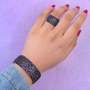 Image 3 - GODKI Breiten Großen Luxus Stapelbar Erklärung Armband Für Frauen Hochzeit Voller Cubic Zirkon Kristall CZ Dubai Armbänder 2019