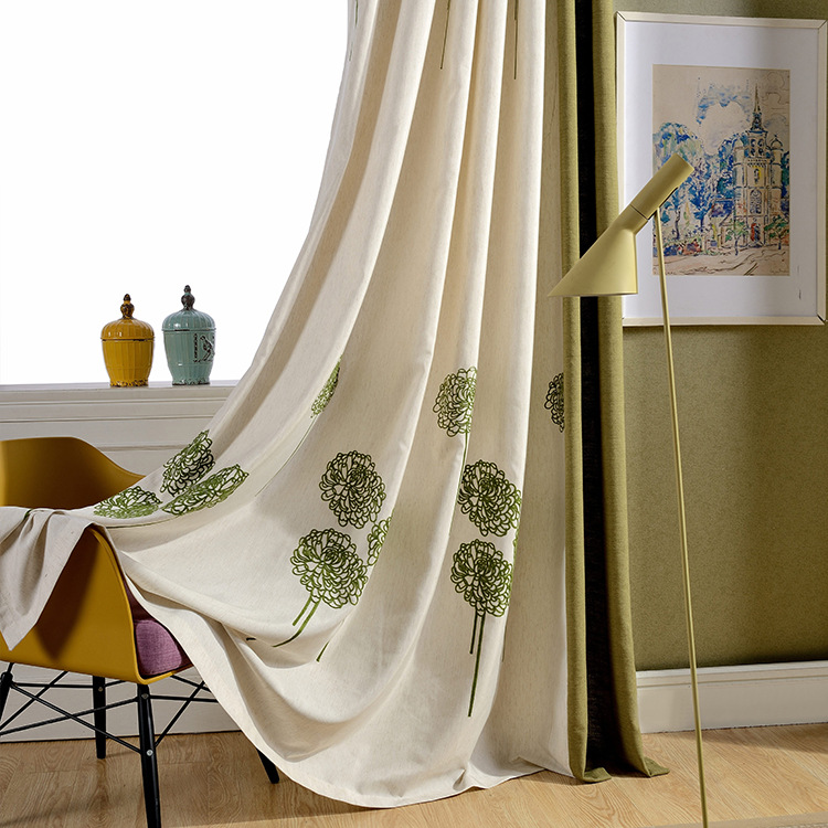 Slow Soul Chinese Style Embroidered Curtains For Living Room Patchwork Curtain High Quality