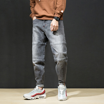KSTUN Famous Brand Men's Jeans Motocycle Cross Pants Grey Harem Baggy Wide Leg Denim Casual Pants Hip Hop High Street Male Jeans 1