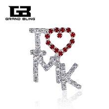 цена на MARY KAY Theme I Love MK Pin Rhinestone Hand-made Brooch Jewelry