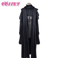 Star Wars Darth Maul Jedi Tunic Robe Cosplay Costume Linen Black Cloak Sets Halloween Uniform For