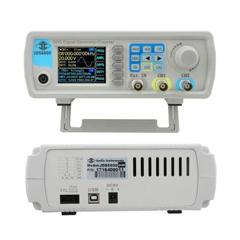 JDS6600 15 мГц цифровой управление двухканальный частота MeterDDS функция генератор сигналов произвольной синусоидальной частоты метр