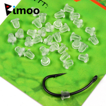 Bimoo 50pcs/pack Clear Soft Carp Fishing Hook Stoper on Sliding Hooks Holder Terminal Tackle Rubber Pop Up Set Rig Shank Bead