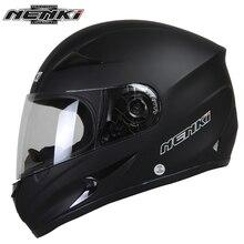 NENKI Matte Black Motorbike Helmet  Full Face Helmet Motorcycle Riding Street Bike