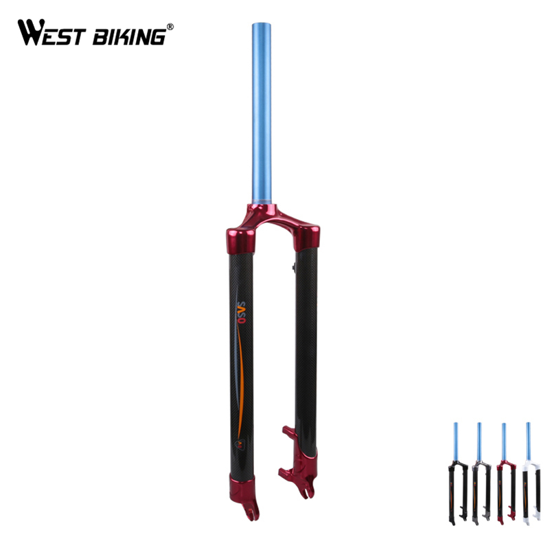 Brand Carbon Fiber Bicycle Forks Double Shoulder Design Mountain Bike Fork Bicycle Parts Road Bicycle 26-Inch Tapered Hard Fork west biking aluminum alloy bicycle fork mountain bike front shock road bicycle fork carbon fiber cycling bike parts frame fork