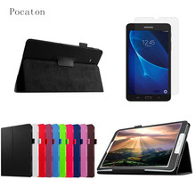 Pocaton Film+PU Leather Case For Samsung Galaxy Tab A a6 7.0 inch T280 T285 SM-T280 T285 Covers Case Tablet Business Flip Shell
