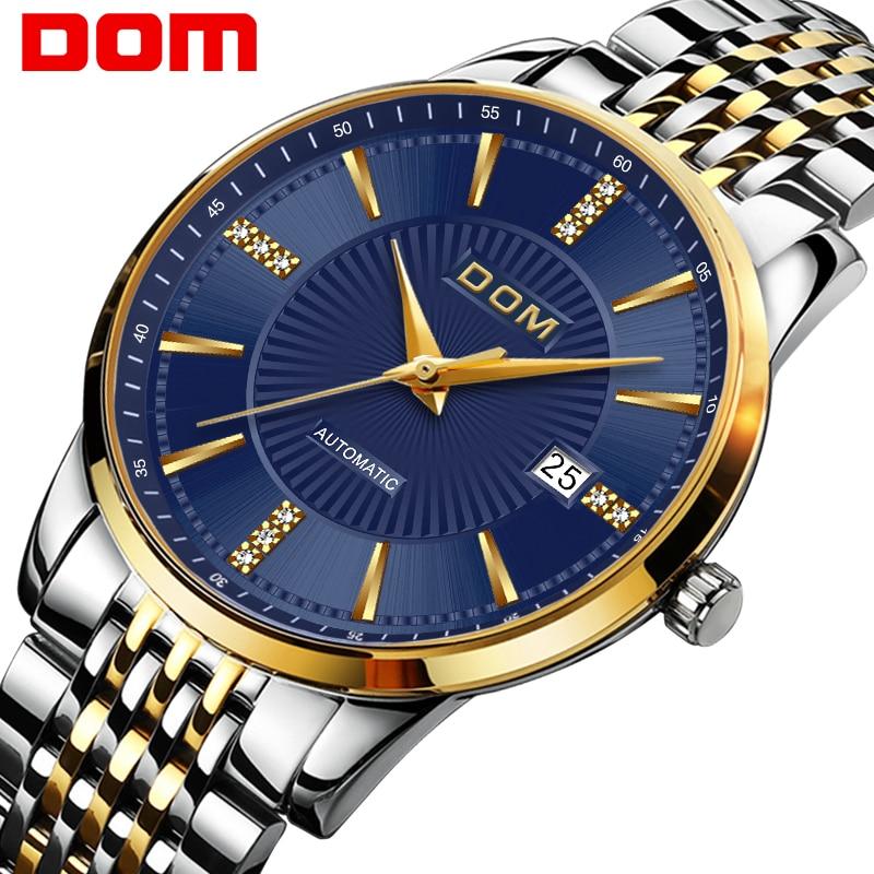 Relojes DOM Male Automatic mechanical Sport Watch Men Luxury Brand Casual Watches Men's Wristwatch Clock relogio masculino M- цена