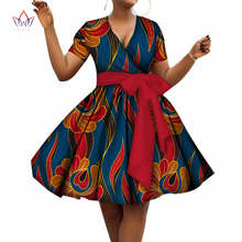 2018 summer cotton Dress Plus Size african dresses for women v-neck women  african clothing knee length everyday dress 5xl WY3215 f36bad496f5a
