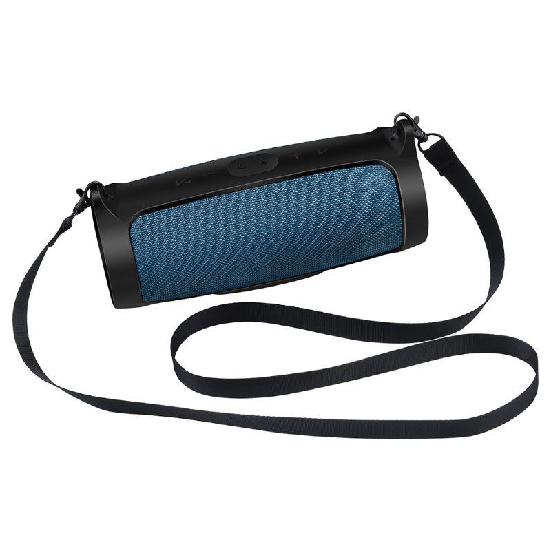 Tüketici Elektroniği'ten Hoparlör Aksesuarları'de Silikon kutu örtüsü cilt kayış çantanıza JBL şarj 4 taşınabilir kablosuz bluetooth hoparlör title=