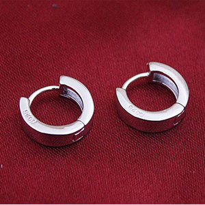 Женские и мужские серьги-пусеты Anenjery, гладкие серьги-Пусеты Из 925 пробы серебра с S-E15