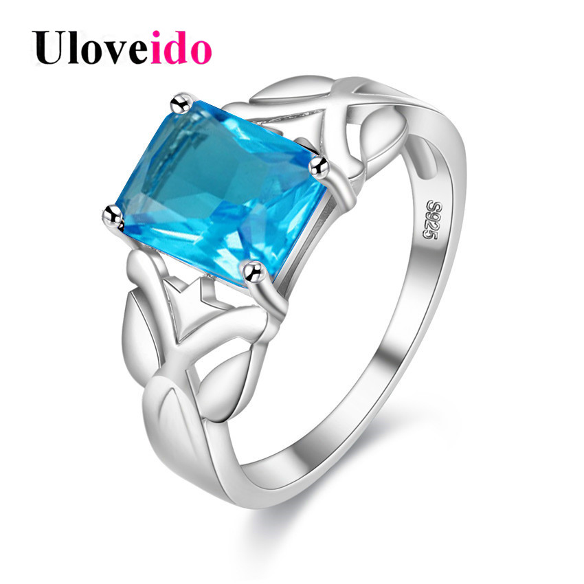 இuloveido Costume Jewelry Rings For Women Silver Color Wedding Ring