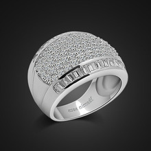 wedding ring band silver neutral gypsum design exaggerated jewelry charm party with bijoux