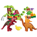 40pcs legoeINGly Duplos Jurassic World Dino Valley Building Blocks Large particles Dinosaur Animal Bricks Toys For Children