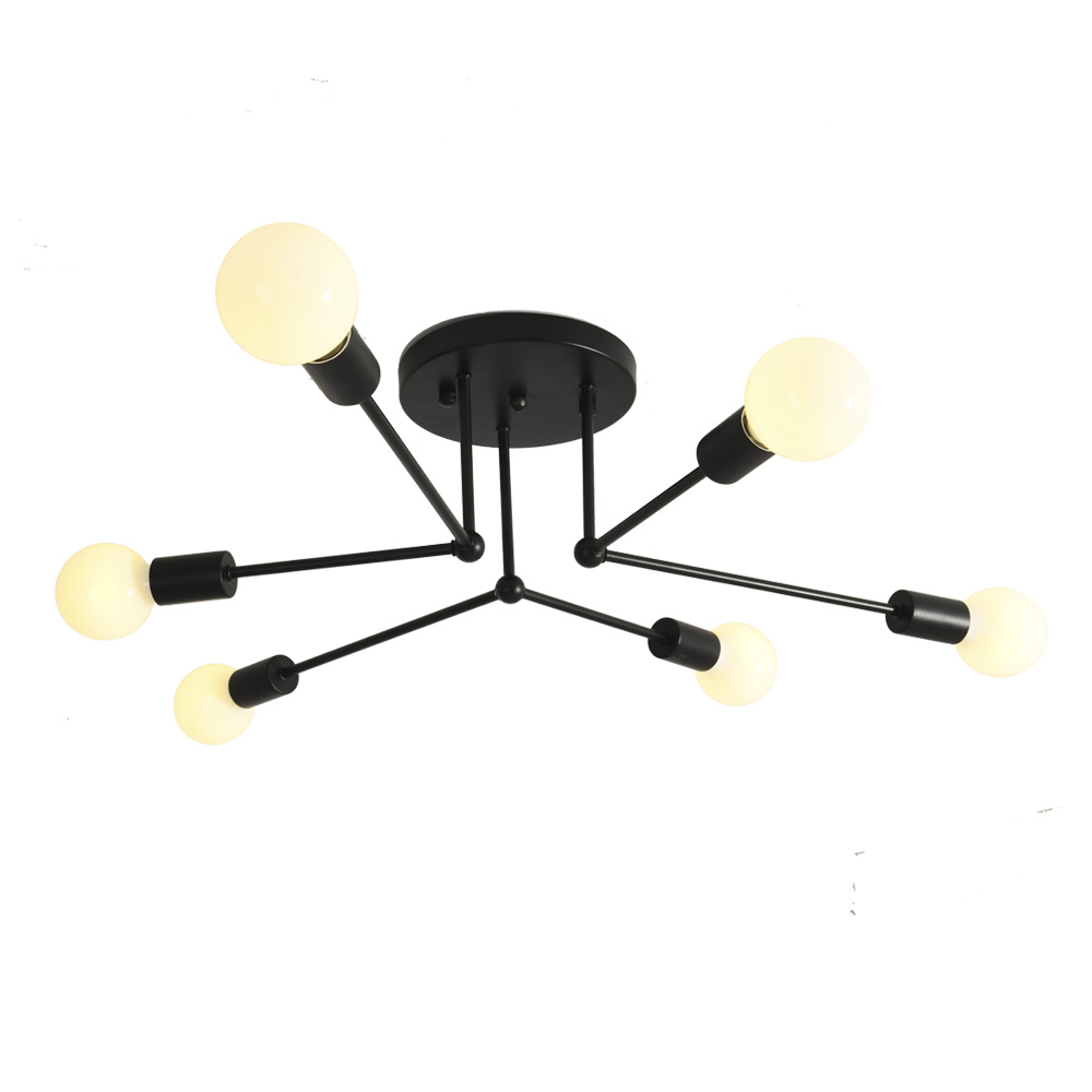 modern LED Chandeliers hanging light With E27 edison bulb For Living Room Foyer ceiling surface mounted