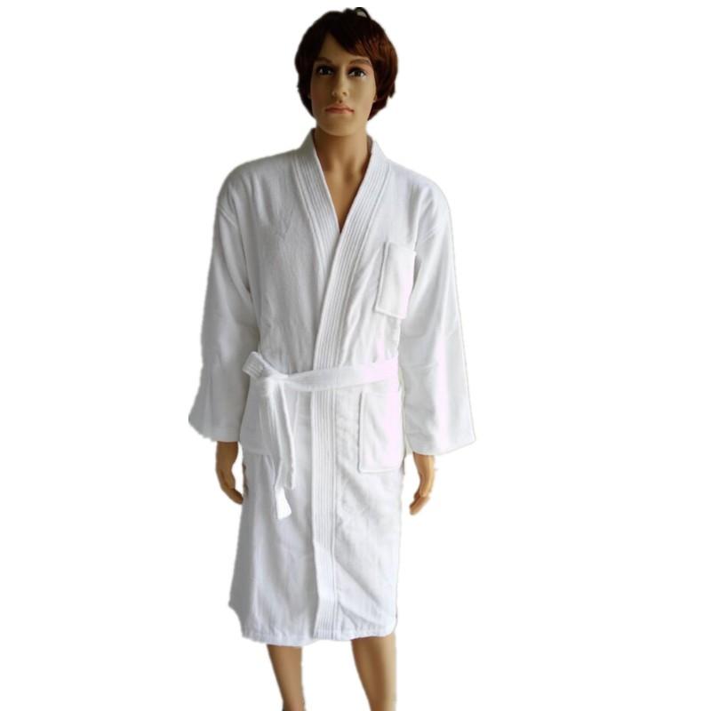 Men s Bathrobes Terry Bathrobe Cotton Towel Pile Loop Dressing Gown ... 9492b6ea9