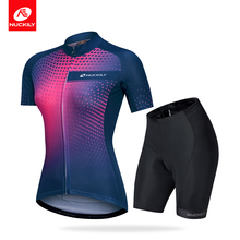 Nuckily 2019 Cycling Jersey Set Short Sleeves And Breathable Scalable Quick Drying Sport Women GG022GK003