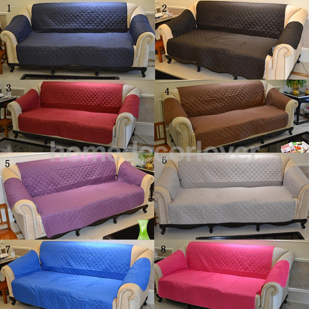 various furniture protector pets slipcover 1 2 3 seat quilted sofa couch cover please pick in. Black Bedroom Furniture Sets. Home Design Ideas