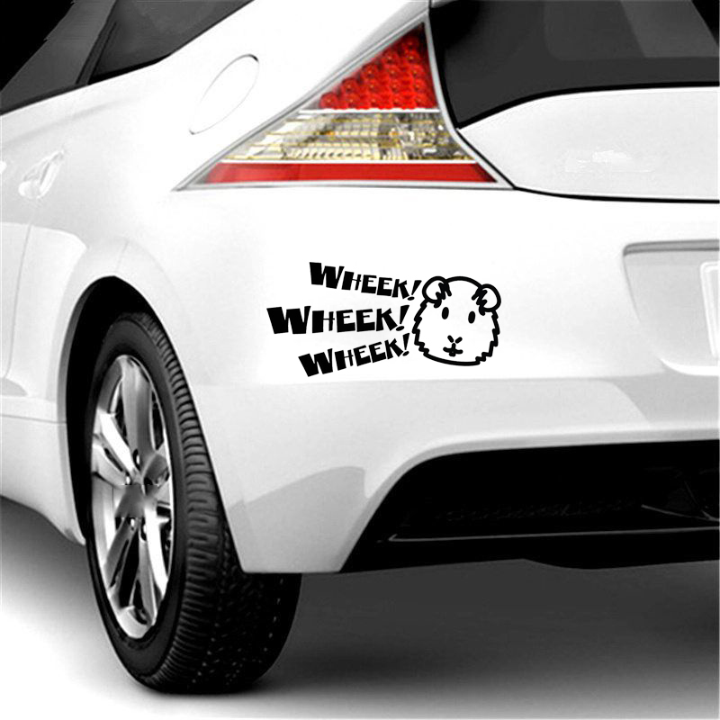 Image 3 - 13*6.5cm Guinea Pig Decal Cavy Wheek Wheek Piggy Piggies Window Bumper Sticker Car Decor Vinyl Decals-in Car Stickers from Automobiles & Motorcycles