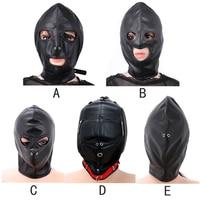 HOWOSEX 5 stijl Erotische Speelgoed Hoofd Masker Slave Nylon PU Bondage Sex Hoofddeksels Terughoudendheid Kap Masker Speeltjes voor Volwassen Paar Games