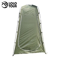 Outdoor Toilet Tent Camping Shelter Portable Shower Tent Changing Room Privacy Tente Ultralight Army Green White