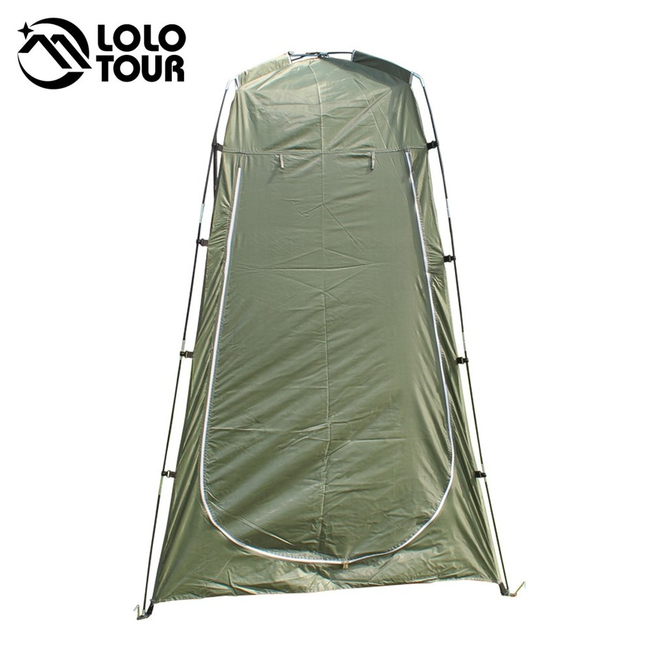цены Outdoor Toilet Tent Camping Shelter Portable Shower Tent Changing Room Privacy Tente Ultralight Army Green White