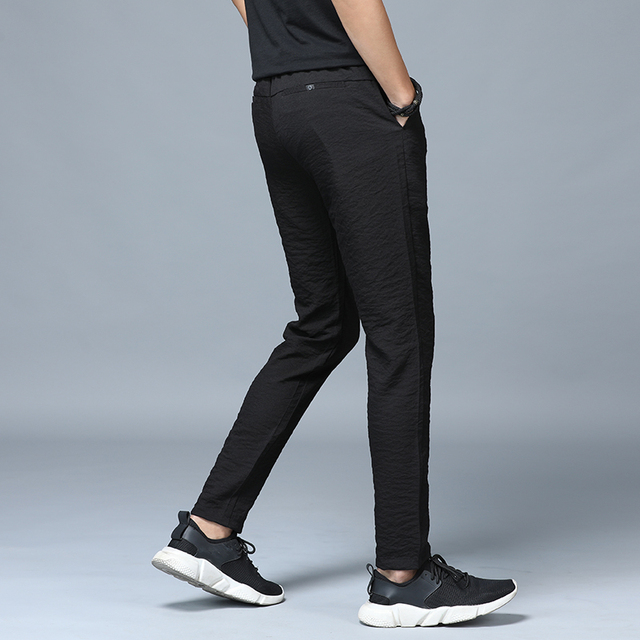 Jantour 2019 Spring Summer New thin Casual Pants Men Cotton Slim Fit Chinos Fashion Black Trousers Male Brand Clothing Plus Size 41