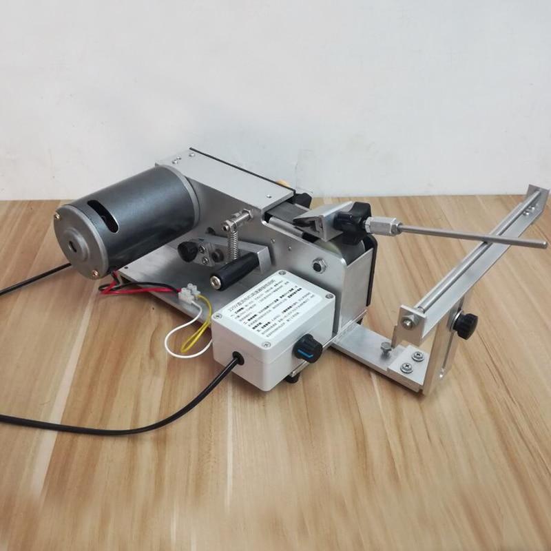 Nouveau 350 w DC électrique Professionnel Couteau Apex Bord affûteuse sable ceinture affilant le système Abrasif ceinture électrique Ouvert V machine