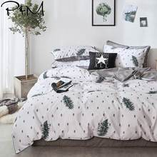 2019 Nordic Dark Green Trees Duvet Cover Set Flat Fitted Sheet Cotton Bedlinens Hypoallergenic Twin Queen King Bedlinens(China)