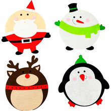 2017 new arrival christmas mouse pad cute cartoon santa claus elk snowman table pad christmas decorations - Christmas Mouse Decorations