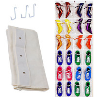 24Pockets Clear Hanging Shoes Organizer Holder Storage Baseroom Living Room Storage Bag Shoe Rack Hanger Tidy