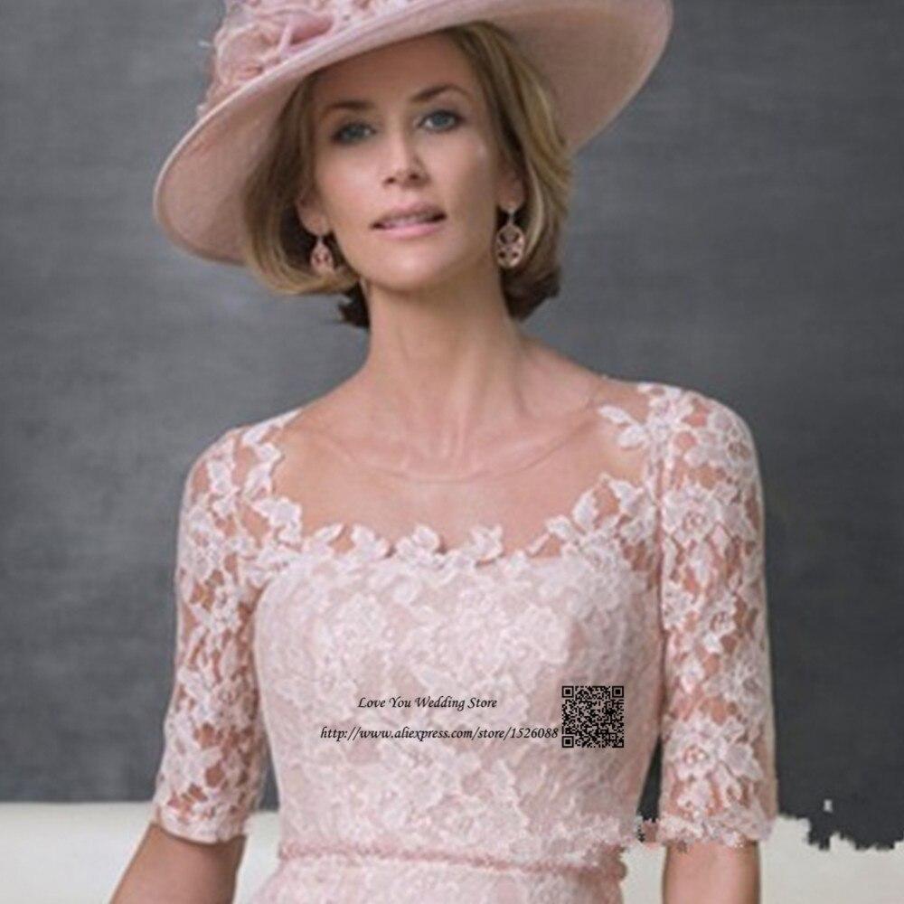 De Encaje de color rosa Madre de la Novia Pant Suits Vestido de ...