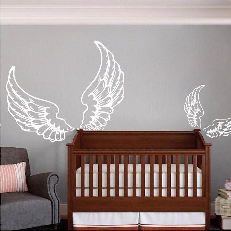 Angel Wing Wall Stickers Pvc Wall Decor Diy Self Adhesive Wallpaper